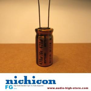 Nichicon FG 470uF 16V Audio-Grade Capacitor 10PCS