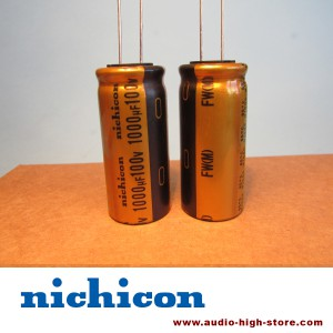 Nichicon FW 1000uF 100V Audio-Grade Capacitor