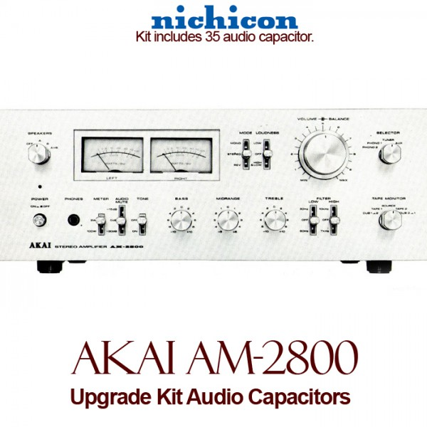 Akai AM-2800 Upgrade Kit Audio Capacitors