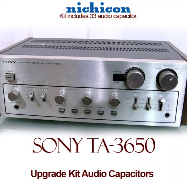 Sony TA-3650 Upgrade Kit Audio Capacitors