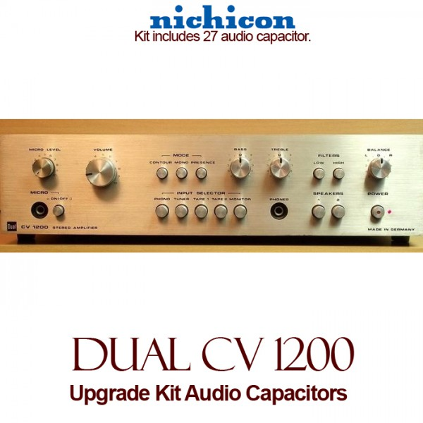 Dual CV 1200 Upgrade Kit Audio Capacitors
