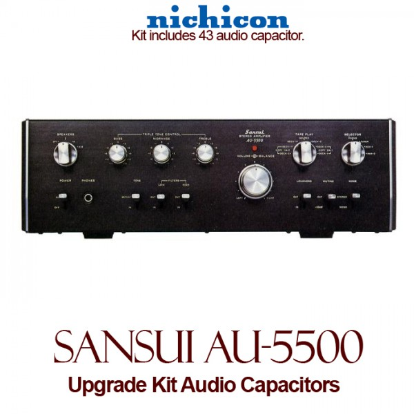 Sansui AU-5500 Upgrade Kit Audio Capacitors