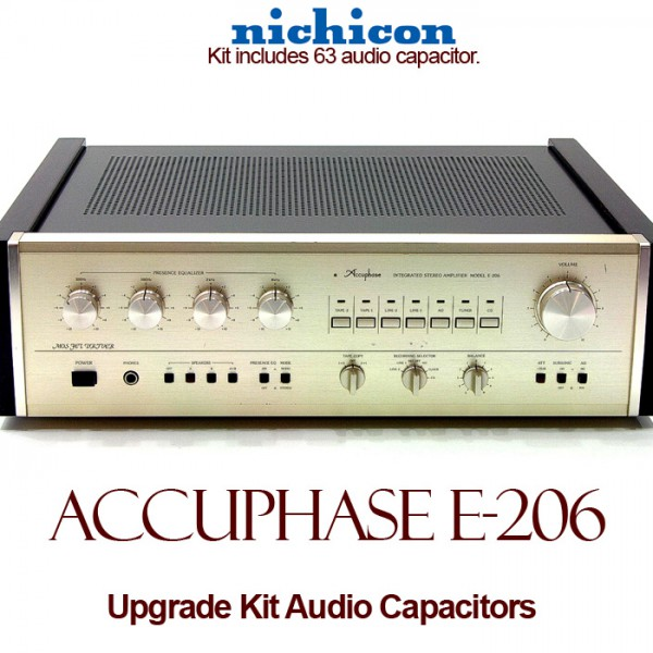 Accuphase E-206 Upgrade Kit Audio Capacitors