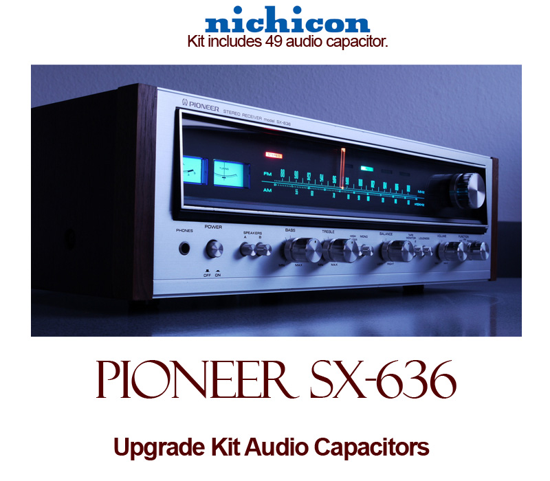 Pioneer SX-636 Upgrade Kit Audio Capacitors