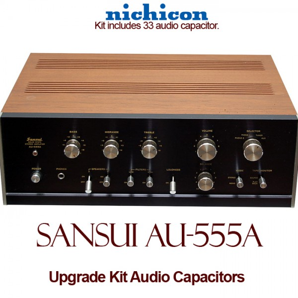 Sansui AU-555A Upgrade Kit Audio Capacitors