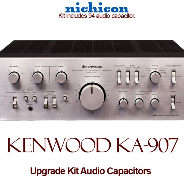 Kenwood KA-907 Upgrade Kit Audio Capacitors