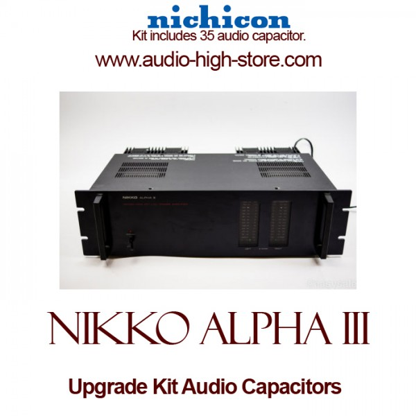 Nikko Alpha III Upgrade Kit Audio Capacitors