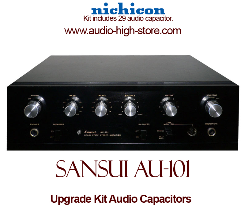 Sansui AU-101 Upgrade Kit Audio Capacitors