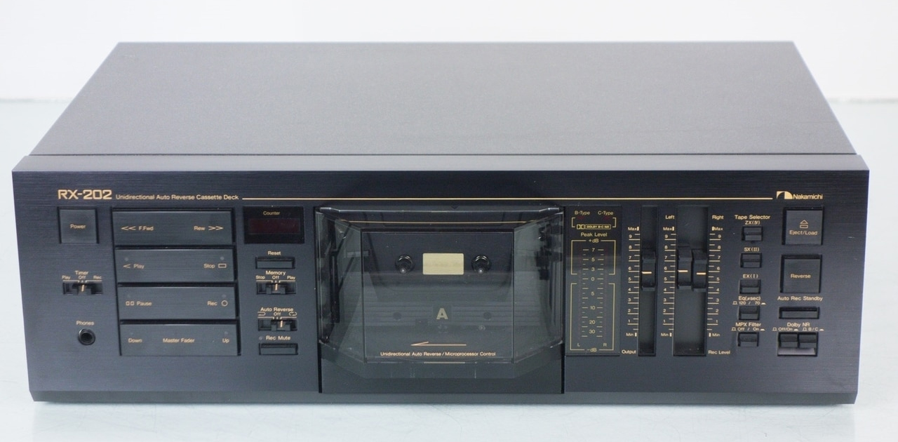 Nakamichi RX-202 Cassette Deck Owners Manual